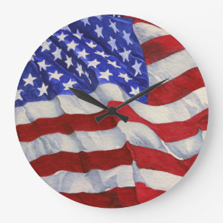 The American Flag -  Office Clock