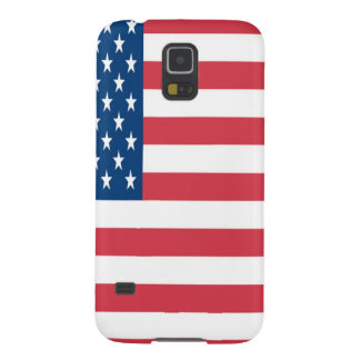 The American Flag On a White Background Galaxy S5 Cover