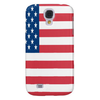 The American Flag On a White Background Samsung Galaxy S4 Cover
