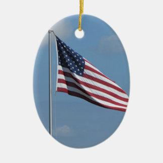 The American Flag Poem Ceramic Ornament
