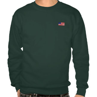 The American Flag Pull Over Sweatshirts