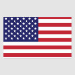 The American Flag Rectangle Sticker