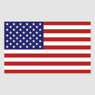 The American Flag Rectangular Sticker