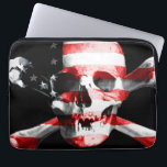 "The American flag superimposed on a skull Computer Sleeve<br><div class=""desc"">Perfect gift for home,  office or decoration. See also the other great products!</div>"