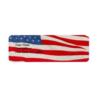 The American Flag, U.S.A Label