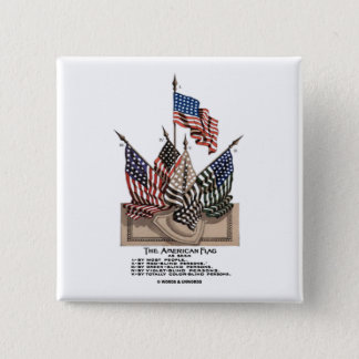 The American Flag (Vintage Historical) Vision Test Button