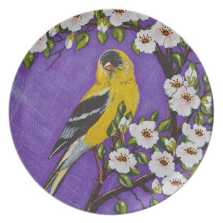 The American Goldfinch Melamine Plate