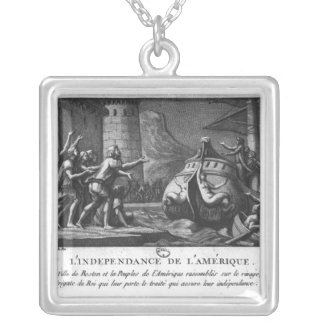 The American Independence Silver Plated Necklace