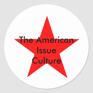 The American Issue Culture Star Red Classic Round Sticker