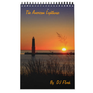 The American Lighthouse one page Calendar