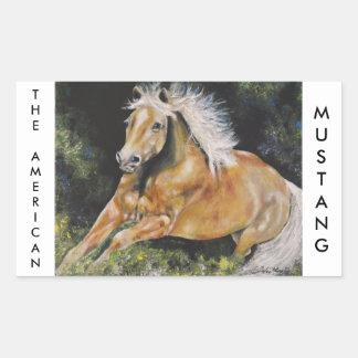 The American Mustang Rectangular Sticker