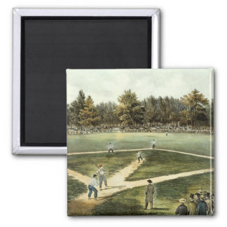 The American National Game of Baseball 2 Inch Square Magnet