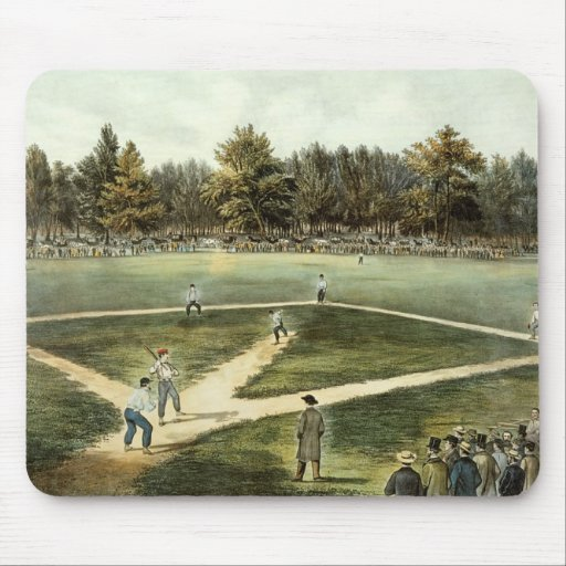 The American National Game of Baseball Mouse Pad