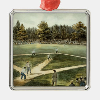 The American National Game of Baseball Christmas Ornaments