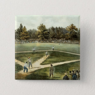 The American National Game of Baseball Pinback Button