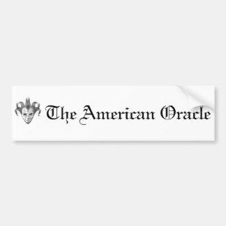 The American Oracle Logo Bumper Sticker Car Bumper Sticker