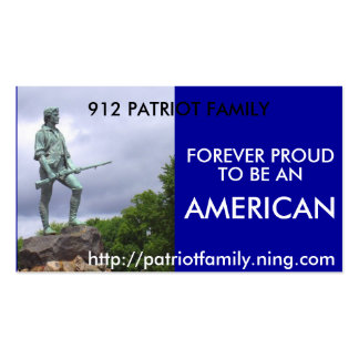 The American Patriot, 912 PATRIOT FAMILY, http:... Business Card
