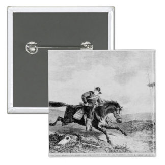 The American Pony Express 2 Inch Square Button