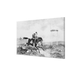 The American Pony Express Canvas Print