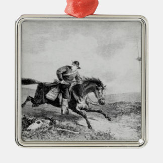 The American Pony Express Metal Ornament