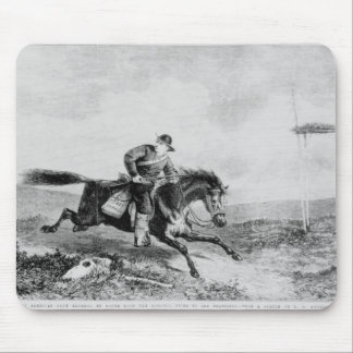 The American Pony Express Mouse Pad