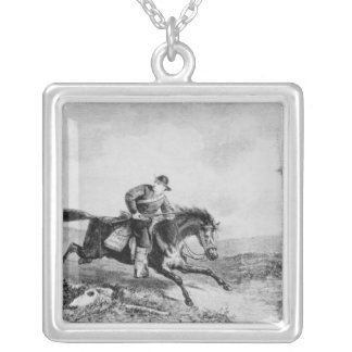 The American Pony Express Square Pendant Necklace