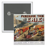 The American Railway Scene at Hornellsville Pinback Buttons