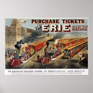 The American Railway Scene at Hornellsville Poster