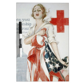 The American red cruciform poster of primary world Dry Erase Board