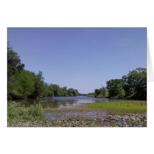 The American River Sacramento,CA Card