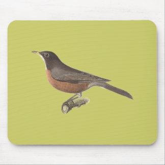 The American Robin(Merula migratoria) Mouse Pad