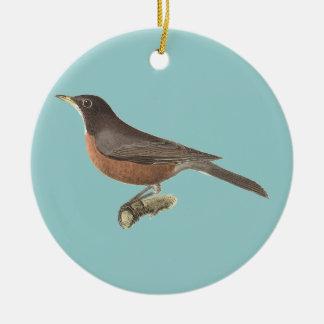 The American Robin(Merula migratoria) Christmas Tree Ornament
