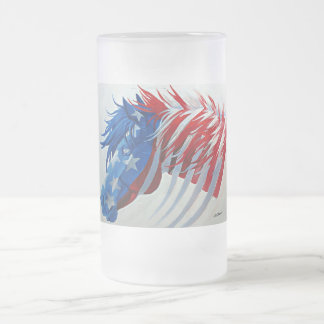 The American Spirit Frosted Glass Beer Mug