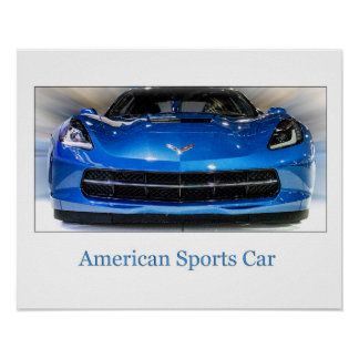 The American Sports Car Poster