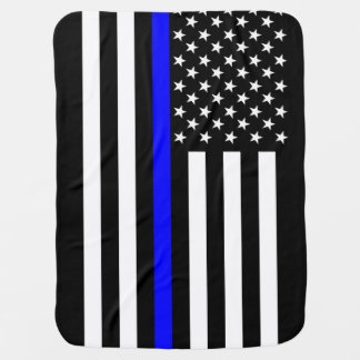 The American Thin Blue Line Symbol Swaddle Blanket