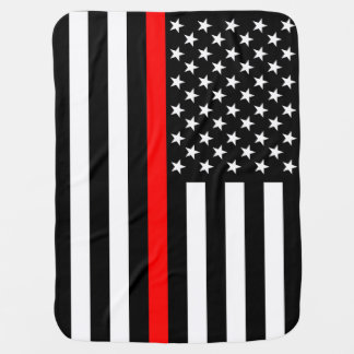The American Thin Red Line Symbol Swaddle Blanket