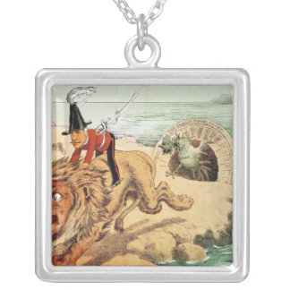 The American view of the Channel Tunnel Scare, Silver Plated Necklace