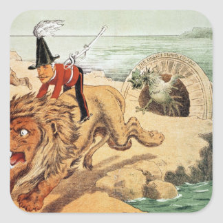 The American view of the Channel Tunnel Scare, Square Sticker