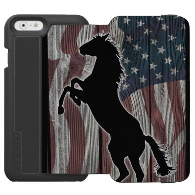 The American Wild horse iPhone 6/6S Wallet Case