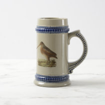 The American Woodcock	(Rusticola minor) Beer Stein