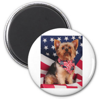 The American Yorkie 2 Inch Round Magnet