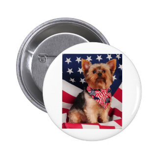 The American Yorkie Pinback Button