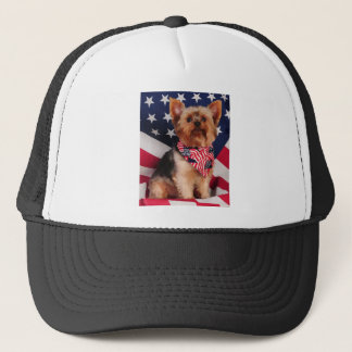 The American Yorkie Trucker Hat