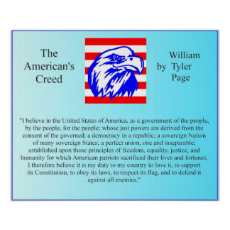 The American's Creed Poster
