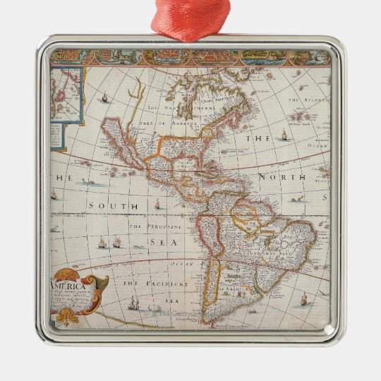 The Americas 3 Metal Ornament