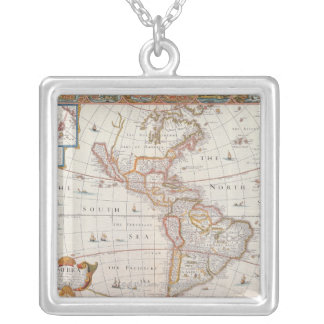 The Americas 3 Square Pendant Necklace