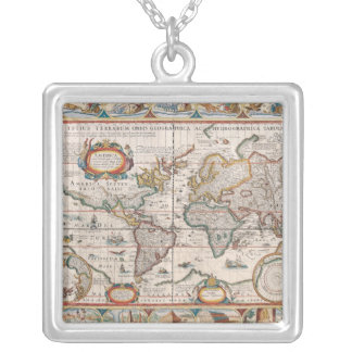 The Americas 4 Square Pendant Necklace