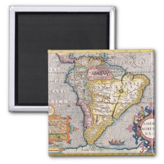 The Americas 5 2 Inch Square Magnet