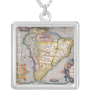 The Americas 5 Square Pendant Necklace