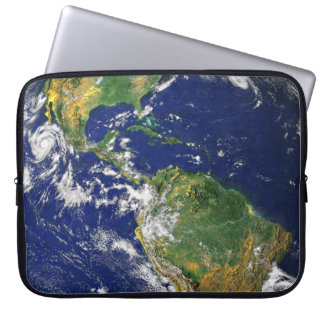 The Americas, As Seen From Space Computer Sleeve